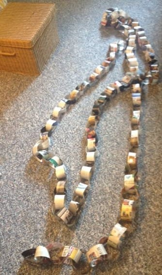 huge paper chain of my mortgage debt