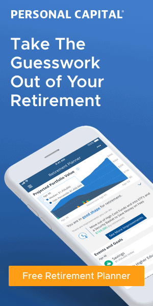 free retirement planner graphic for Personal Capital