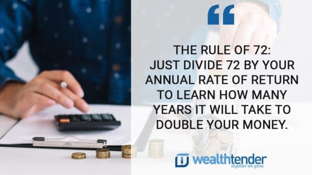 quote - the rule of 72 tells you how long it will take for your investment to double in value