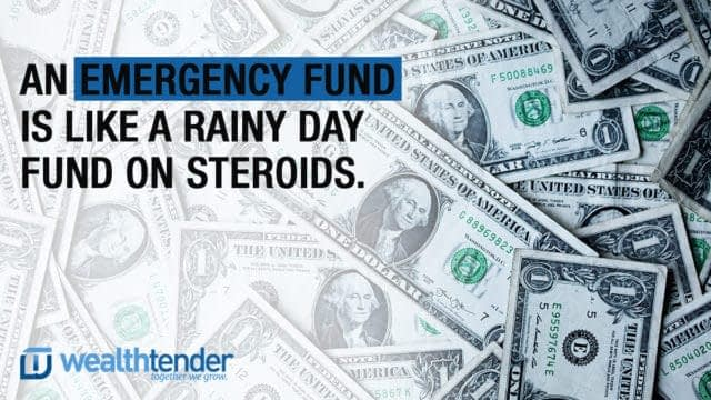 quote - emergency fund is a rainy day fund on steroids