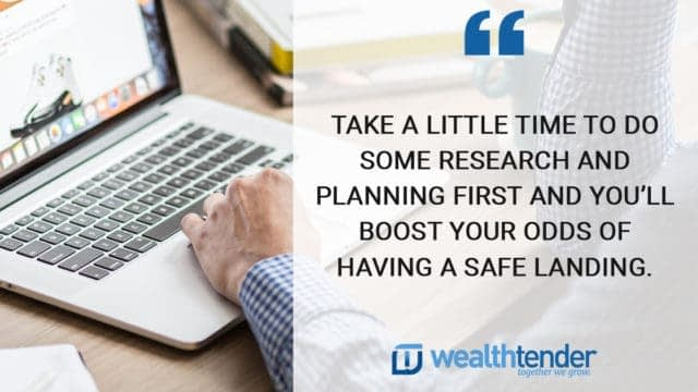 freelancing quote - Take a little time to do some research and planning first and you'll boost your odds of having a safe landing
