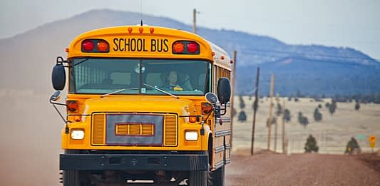 Some people are converting school buses into affordable tiny homes.