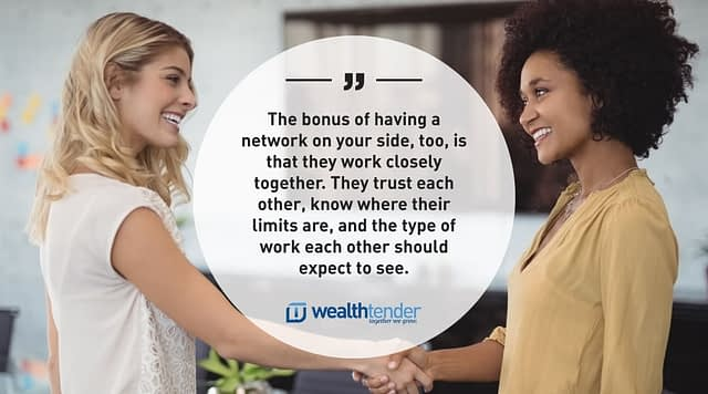 Quote - Bonus of having a trusted network